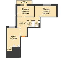 2 комнатная квартира 67,15 м² в OK Salut (Салют), дом ГП-6 - планировка