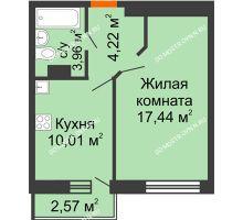 1 комнатная квартира 36,4 м², ЖК Зеленый берег Life - планировка