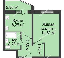 1 комнатная квартира 32,56 м² в ЖК Французский квартал, дом Корпус 6-11
