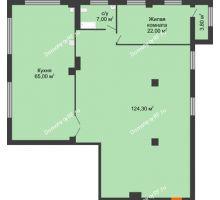 1 комнатная квартира 220,4 м², ЖК ROLE CLEF - планировка