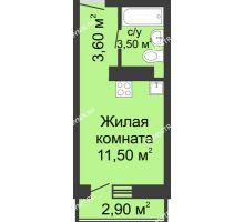 Студия 18,6 м² в ЖК Корабли, дом № 11 - планировка