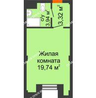 Апартаменты-студия 27 м², Апарт-Отель Гордеевка - планировка