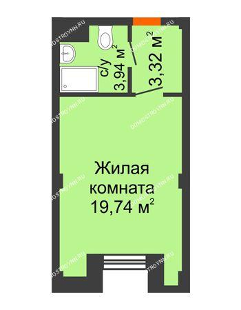 Студия 27 м² - Апарт-Отель Гордеевка