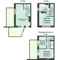 4 комнатный таунхаус 73 м² в КП Баден-Баден, дом № 44 (от 73 до 105 м2) - планировка