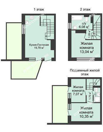 4 комнатная квартира 73 м² в КП Баден-Баден, дом № 31 (от 73 до 105 м2)