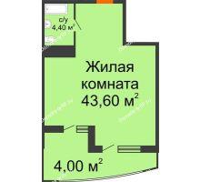 Студия 52 м² в ЖК Элегант, дом Литер 11 - планировка