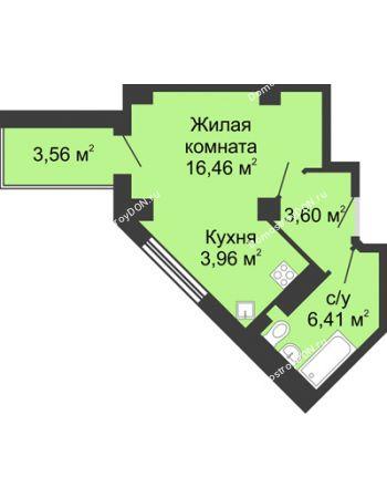 Студия 32,21 м² в ЖК Мега, дом № 2