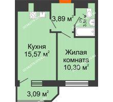 1 комнатная квартира 36,4 м² в ЖК Город времени, дом № 18