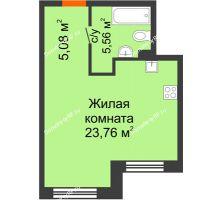 1 комнатная квартира 34,4 м² в ЖК Первая Линия. Гавань, дом № 2.3 - планировка
