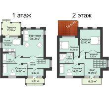 5 комнатная квартира 172,97 м² в КП Щепкин Союз, дом Тип 9, 172.97 м² - планировка