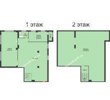 1 комнатная квартира 280 м², ЖК ROLE CLEF - планировка