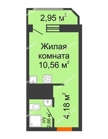 Студия 20,35 м² в ЖК Город времени, дом № 18
