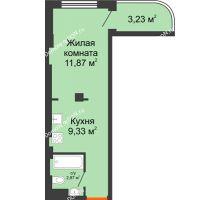 1 комнатная квартира 24,1 м² - ЖК Уютный дом на Мечникова