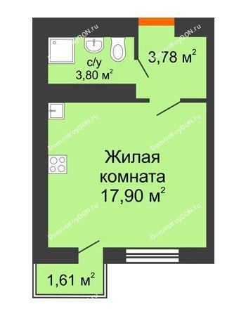 Студия 25,48 м² в ЖК Мечников, дом ул. Таврическая, 4