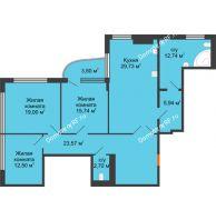 Студия 141,3 м², Жилой дом на ул. Платонова, 9,11 - планировка