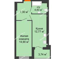 1 комнатная квартира 39,8 м² - ЖК Уютный дом на Мечникова