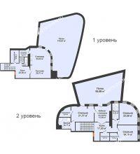 4 комнатная квартира 248,4 м² в ЖК Плотничный, дом № 2 - планировка