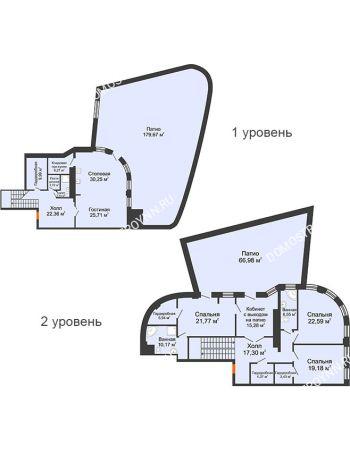 4 комнатная квартира 248,4 м² в ЖК Плотничный, дом № 2